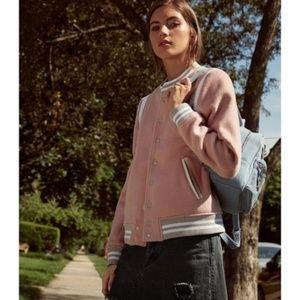 NWT Parker blush pink wool bomber jacket XS